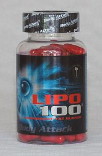 Dose mit 120 Kapseln Body Attack Lipo 100 Fatburner